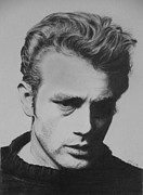 James Dean Drawings Posters - James Dean Poster by Mike OConnell