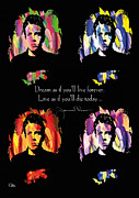 James Dean Framed Prints - James Dean Framed Print by Mo T