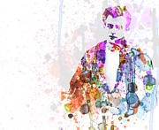 Watercolor Painting Prints - James Dean Print by Irina  March
