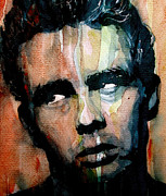 Celebrities Painting Metal Prints - James Dean Metal Print by Paul Lovering