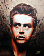 Actors Painting Originals - James Dean by Ramil R Guerra