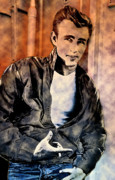 Shirt Digital Art - James Dean by Ron Gonzalez