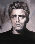 Celebrity Portrait Paintings - James Dean two by Eric Dee