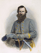 Confederate Photo Posters - James E. B. Jeb Stuart Poster by Granger