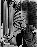 Discrimination Prints - James Farmer, Speaking At Foley Square Print by Everett