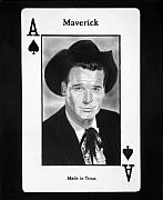Ace Of Spades Drawings - James Garner as Maverick by Nicole I Hamilton