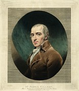 Caricaturist Metal Prints - James Gillray, British Caricaturist Metal Print by Miriam And Ira D. Wallach Division Of Art, Prints And Photographsnew York Public Library
