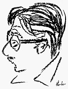 Cartoonist Photo Posters - James Grover Thurber Poster by Granger