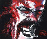 Hyper Painting Framed Prints - James Hetfield Framed Print by Brian Carlton