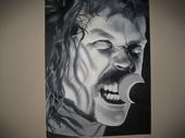 Metallica Paintings - James Hetfield  Metallica by Brandon Ramquist