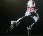Metallica Paintings - James Hetfield by Neil Roberts
