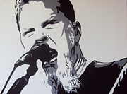 Metallica Paintings - James Hetfield by Sam Sakharia