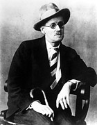 Joyce Posters - James Joyce, 1920s Poster by Everett