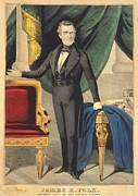 President-elect Prints - James K. Polk As President Elect Print by Everett