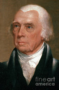 Madison Framed Prints - James Madison, 4th American President Framed Print by Photo Researchers