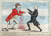 Boxing  Prints - James Madison, A Boxing Match, Or Print by Everett