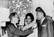 Discrimination Posters - James Meredith And Wife In Front Poster by Everett
