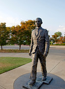Meredith Framed Prints - James Meredith Statue Closeup Framed Print by Joshua House