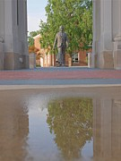 Meredith Framed Prints - James Meredith Statue Reflection Two Framed Print by Joshua House