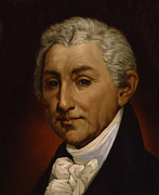 Old Face Framed Prints - James Monroe - President of the United States of America Framed Print by International  Images
