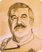 Montgomery Drawings Prints - James Montgomery Scotty Doohan of Star Trek Enterprise Print by Donald William