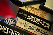 Book Stacks Prints - James Patterson Print by Colleen Campbell