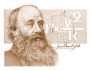 Prescott Drawings Prints - James Prescott Joule Print by John D Benson