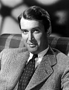 Portraits Prints - James Stewart, C. 1940s Print by Everett