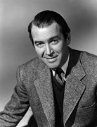 1950s Portraits Prints - James Stewart, Mid 1950s Print by Everett