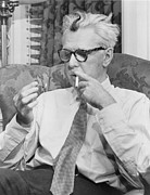 1950s Portrait Posters - James Thurber 1894-1961 American Poster by Everett