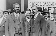 African-american Institute Photos - James Weldon Johnson Right And Robert by Everett