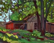 Plein Air Metal Prints - Jamess Barn Metal Print by Donald Maier