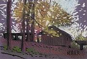 Barns Drawings Prints - Jamess Barns 9 Print by Donald Maier