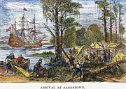Colonist Framed Prints - Jamestown: Arrival, 1607 Framed Print by Granger