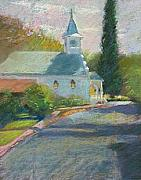 Foothills Pastels - Jamestown Church by Rhett Regina Owings