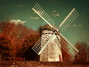 East Coast Digital Art Posters - Jamestown Windmill Poster by Lourry Legarde
