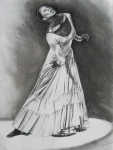 Dancer Drawings Framed Prints - Jamison Framed Print by Toni  Thorne