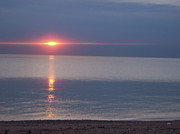 First Star Art Photos - jammer Flash Sunset Lake Huron by First Star Art