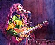 Bob Marley Artwork Framed Prints - Jammin - Bob Marley Framed Print by David Lloyd Glover