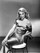 1950s Portraits Photo Metal Prints - Jan Sterling, 1950s Metal Print by Everett
