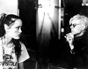 On-set Prints - Jane Forth And Andy Warhol On The Set Print by Everett