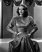 Long Sleeved Dress Posters - Jane Greer, C. 1946 Poster by Everett