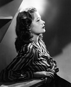 Striped Shirt Posters - Jane Greer, C. 1946. Photo By Bachrach Poster by Everett
