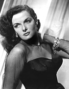 Earrings Photo Framed Prints - Jane Russell, 1948 Framed Print by Everett