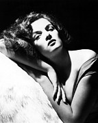 Bare Shoulder Metal Prints - Jane Russell, Ca. Early-mid 1940s Metal Print by Everett
