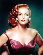 Purple Dress Posters - Jane Russell, Portrait Poster by Everett