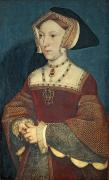 British Portraits Painting Posters - Jane Seymour Poster by Holbein