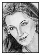 Hand Drawings Framed Prints - Jane Seymour in 1993 Framed Print by J McCombie