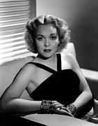 Venetian Blinds Prints - Jane Wyman, 1940 Print by Everett