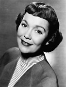 Striped Shirt Posters - Jane Wyman Presents The Fireside Poster by Everett